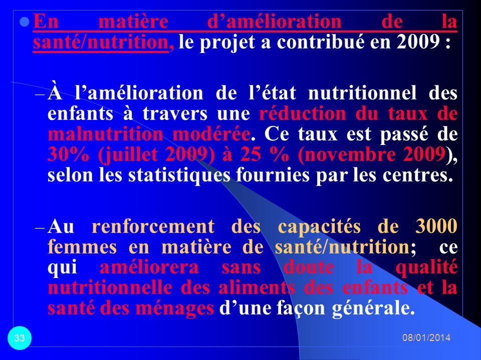 En matière dAGR, le PPILDA a contribué à lamélioration des revenus des populations par : – la promotion du petit élevage (chèvres rousses), lembouche