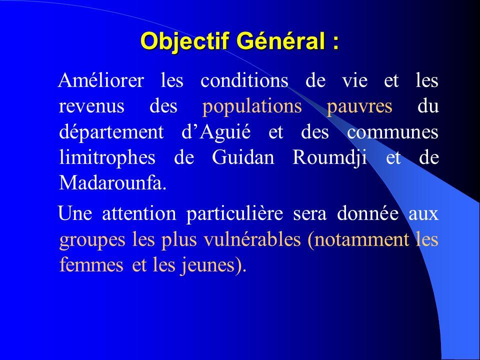II - Présentation du PPILDA La zone du PPILDA couvrira lensemble du département dAguié et les parties Est des communes de Saé Saboua et Giratawa soit