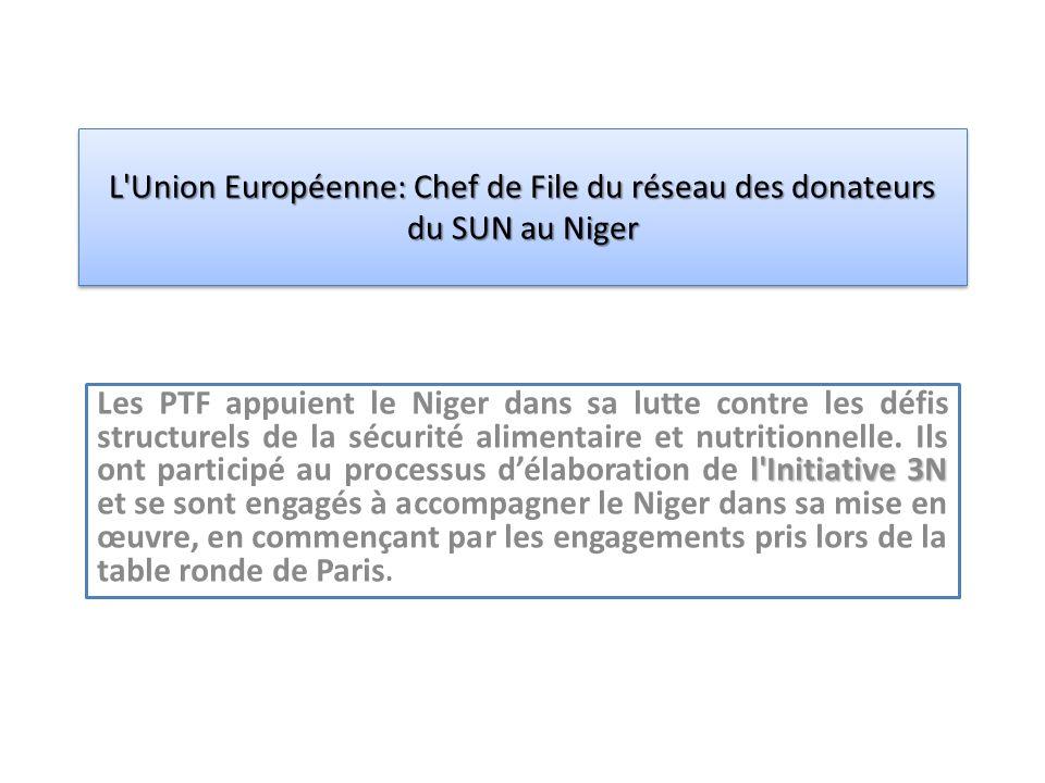 l Initiative 3N Les PTF appuient le Niger dans sa lutte contre les défis structurels de la sécurité alimentaire et nutritionnelle.