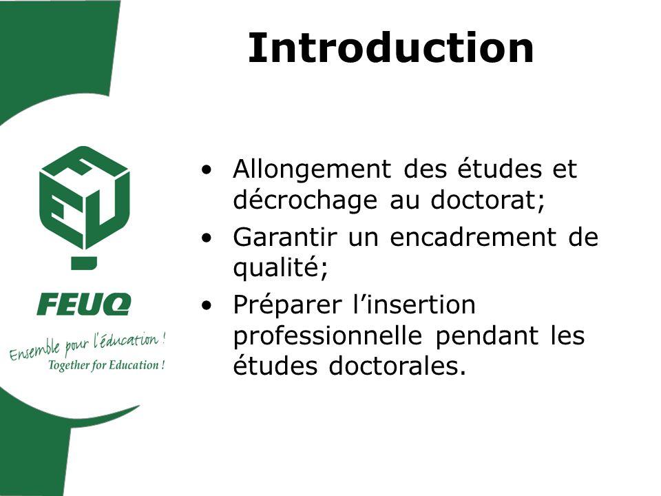 Plan de la présentation I- Favoriser la réussite aux études doctorales II- Favoriser une insertion professionnelle durable des diplômés
