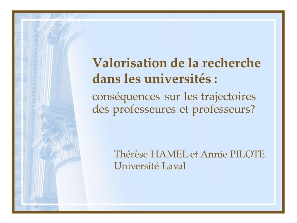 Valorisation de la recherche dans les universités : conséquences sur les trajectoires des professeures et professeurs.