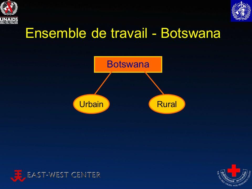 Ensemble de travail - Botswana Botswana RuralUrbain