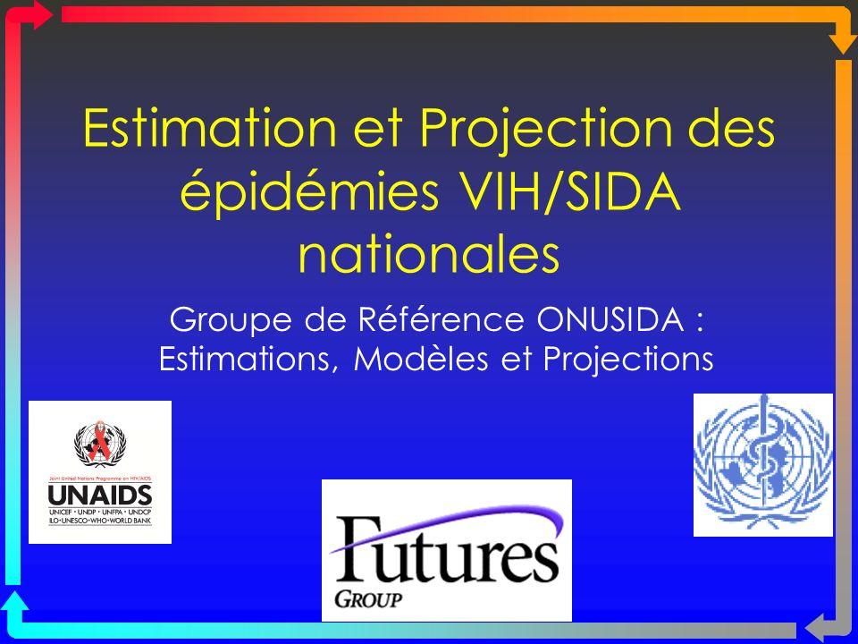 Estimation et Projection des épidémies VIH/SIDA nationales Groupe de Référence ONUSIDA : Estimations, Modèles et Projections