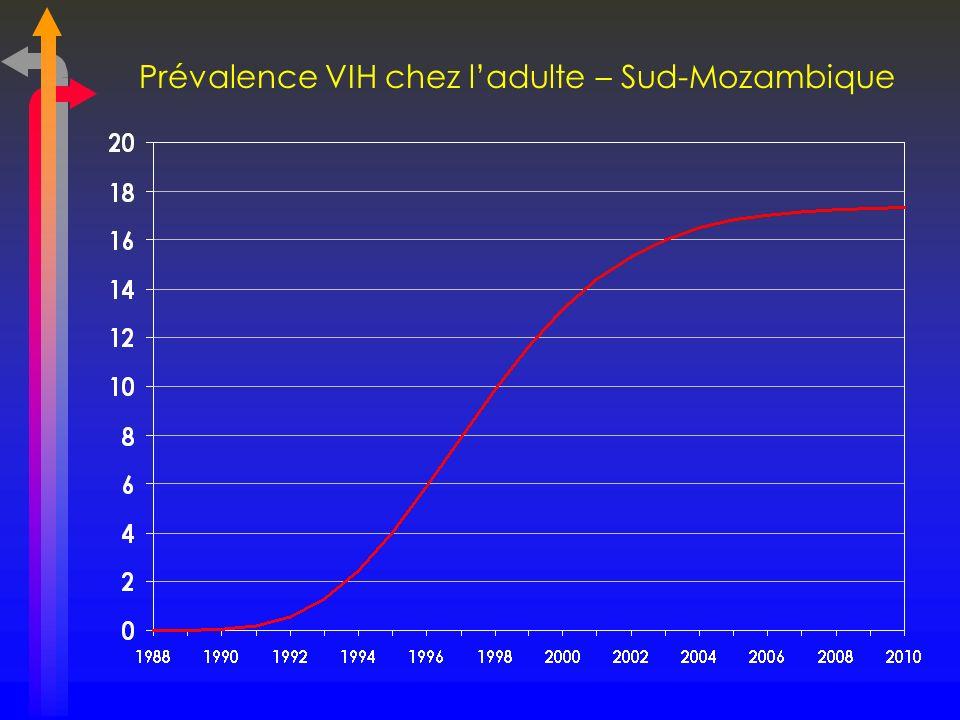 Prévalence VIH chez ladulte – Sud-Mozambique