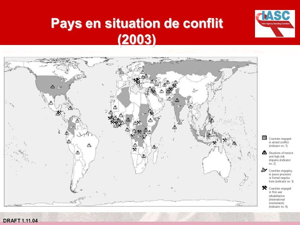 DRAFT 1.11.04 Pays en situation de conflit (2003)