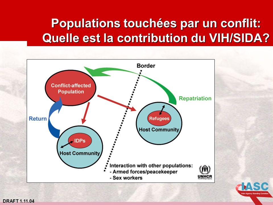 DRAFT 1.11.04 Populations touchées par un conflit: Quelle est la contribution du VIH/SIDA?