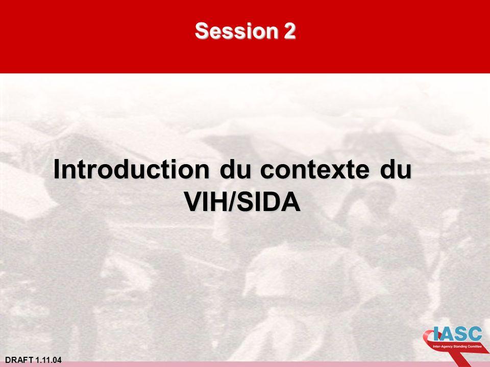 DRAFT 1.11.04 Session 2 Introduction du contexte du VIH/SIDA