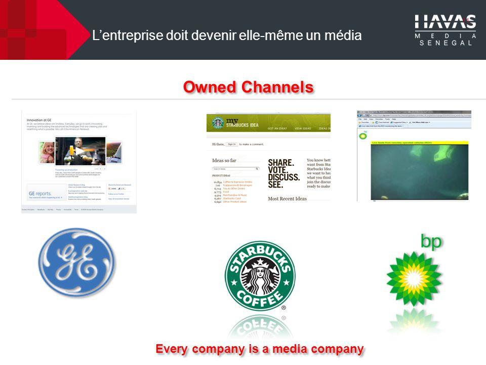 11 Lentreprise doit devenir elle-même un média Owned Channels Every company is a media company