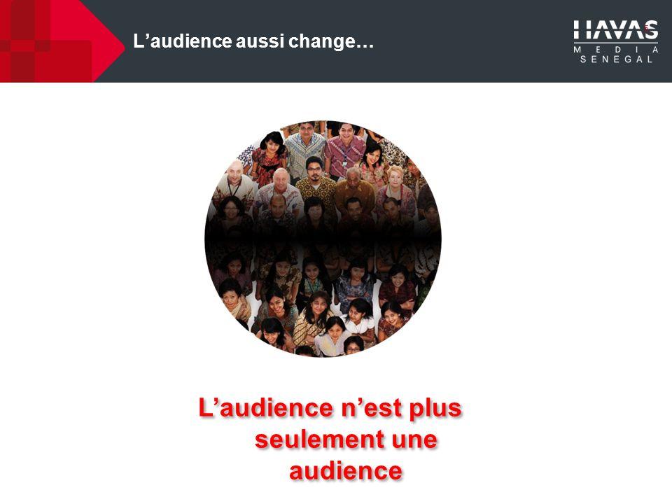 5 Laudience aussi change… Laudience nest plus seulement une audience