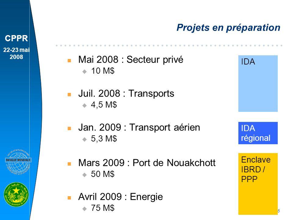 CPPR 22-23 mai 2008 6 Montant approuvé par année fiscale (M$)