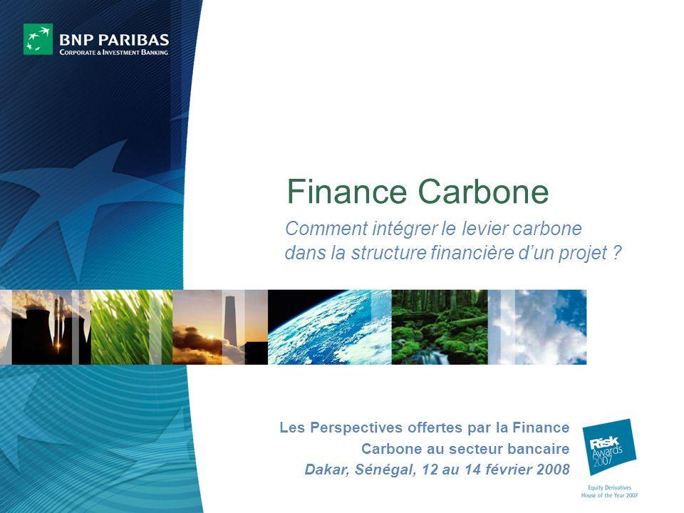 Finance Carbone Comment intégrer le levier carbone dans la structure financière dun projet .