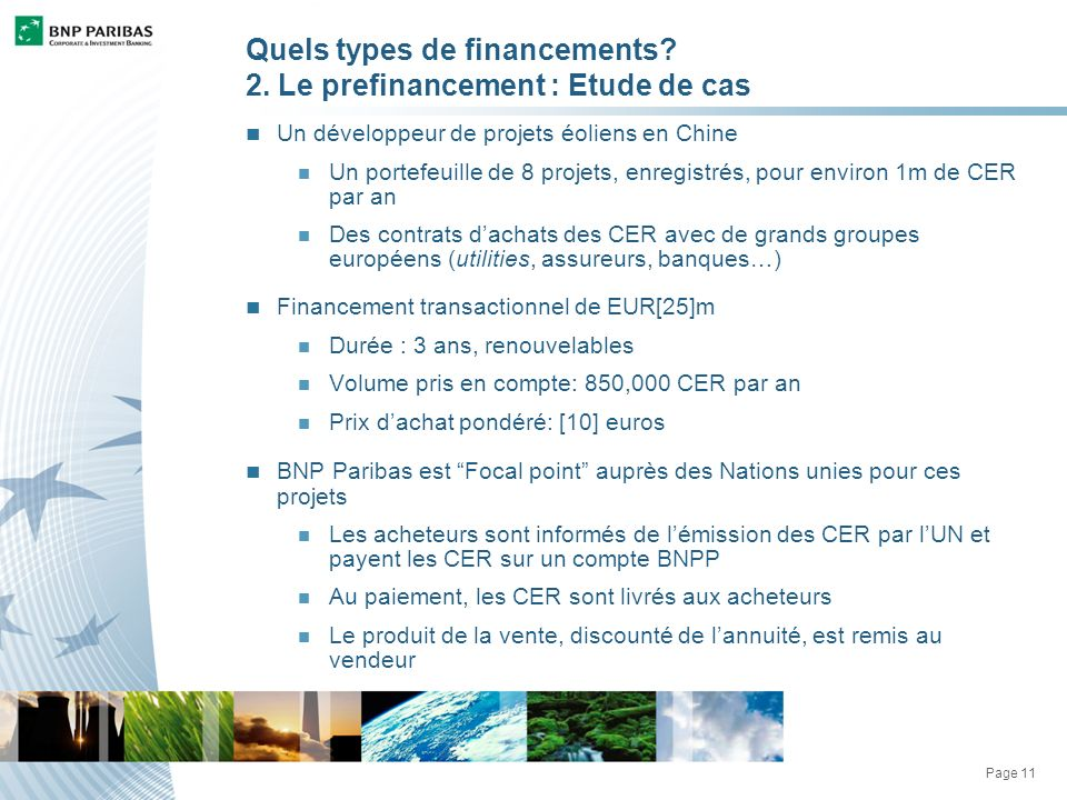 Page 11 Quels types de financements. 2.
