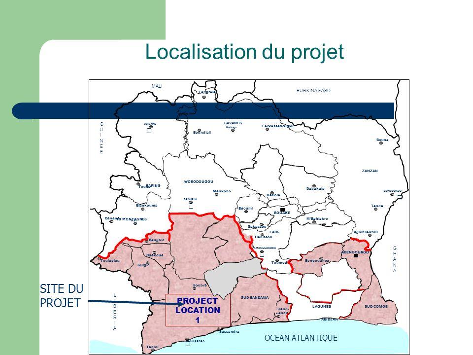 Localisation du projet SITE DU PROJET