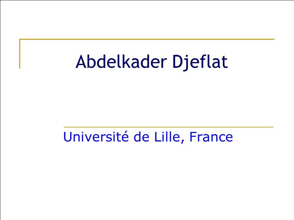 Abdelkader Djeflat Université de Lille, France