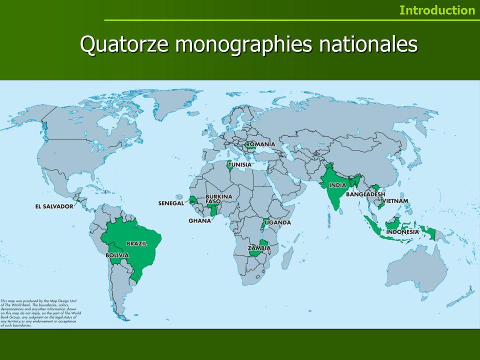 Quatorze monographies nationales Introduction