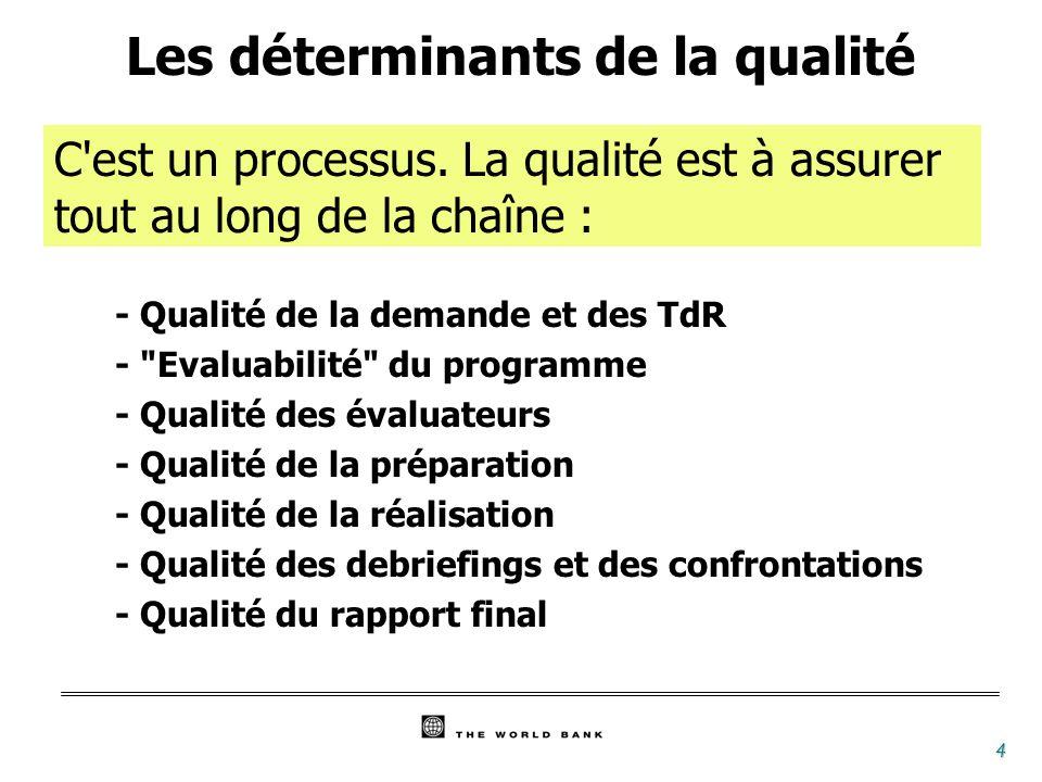 5 Qualité de la demande - Justifiée par une volonté de progrès - Dans un climat de transparence et de partenariat - Pertinence des questions - Choix du moment - Cohérence entre question et moyens - Qualité des termes de référence (qui traduisent la demande)