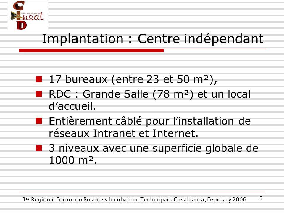 3 Implantation : Centre indépendant 17 bureaux (entre 23 et 50 m²), RDC : Grande Salle (78 m²) et un local daccueil. Entièrement câblé pour linstallat