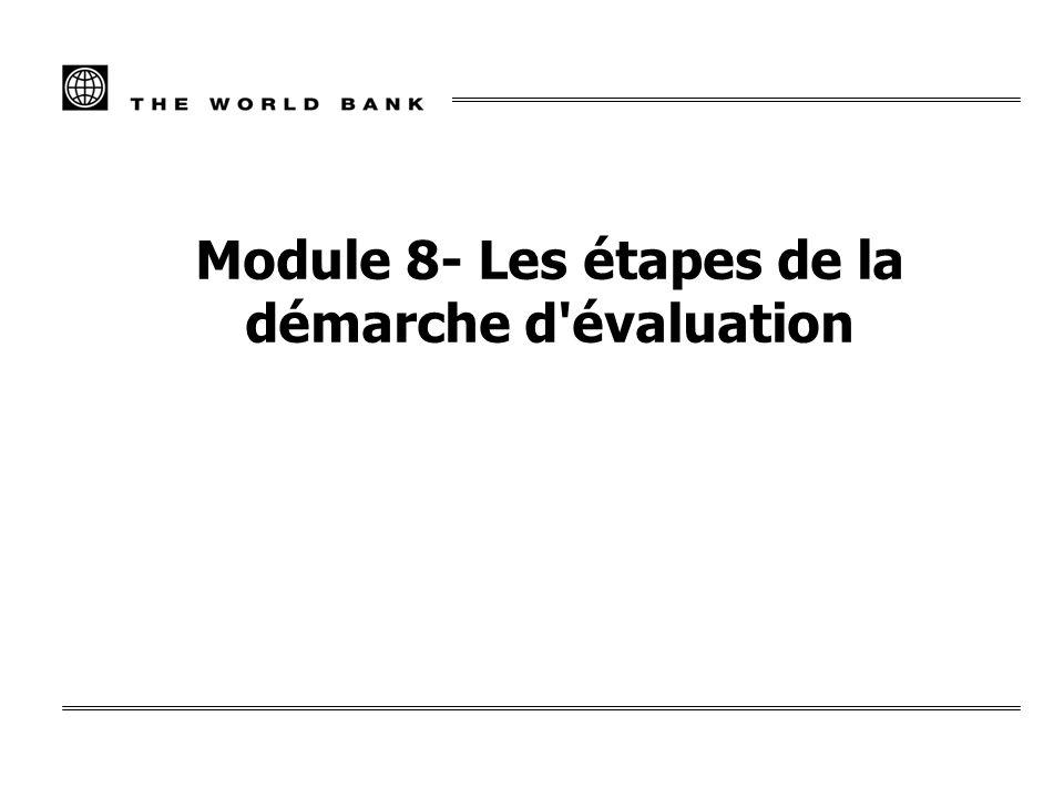 Module 8- Les étapes de la démarche d'évaluation