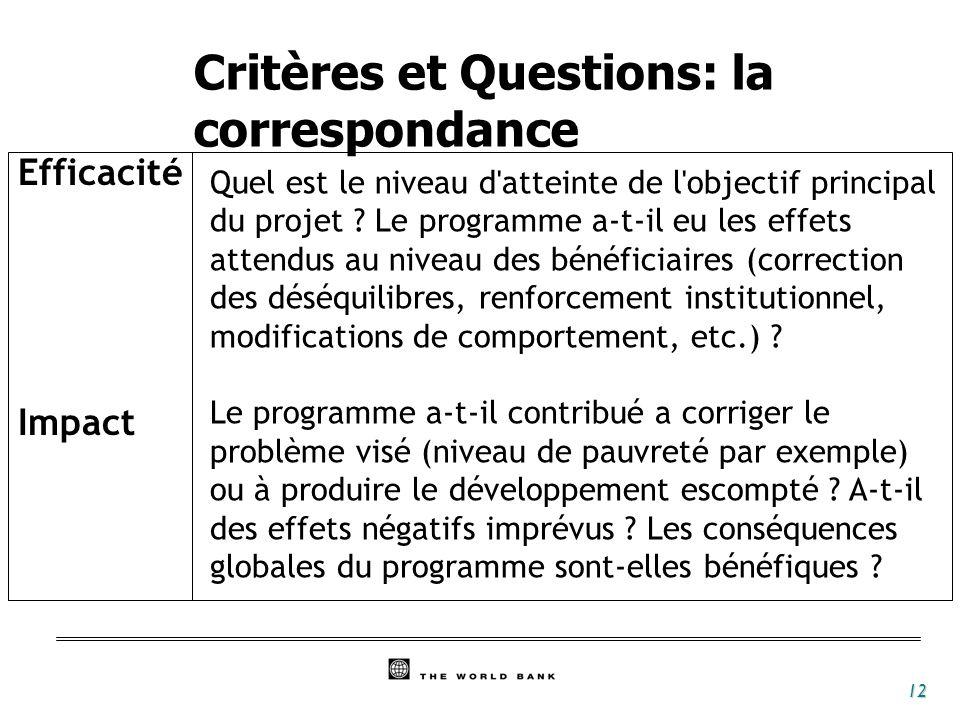 13 Durabilité Réplicabilité Les effets du projet ou du programme seront-ils durables .