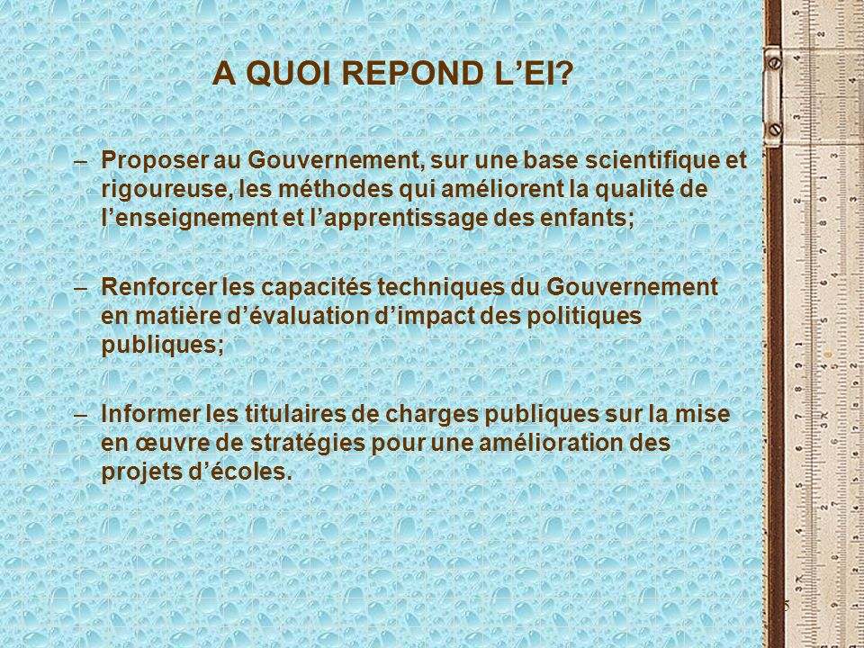 5 A QUOI REPOND LEI.