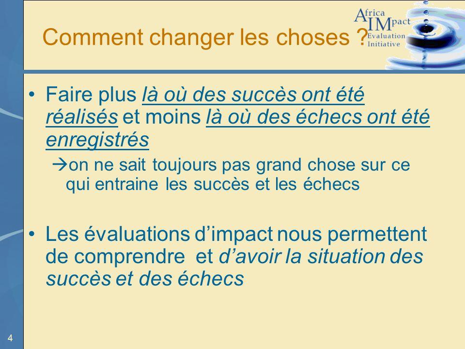 4 Comment changer les choses .