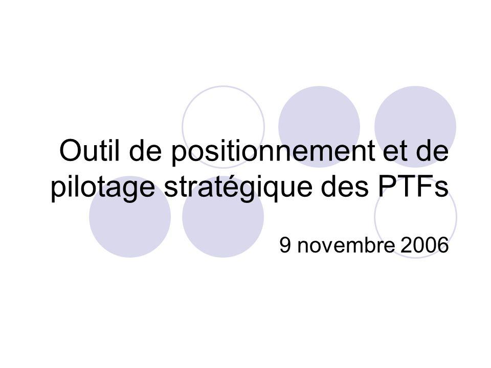 Outil de positionnement et de pilotage stratégique des PTFs 9 novembre 2006