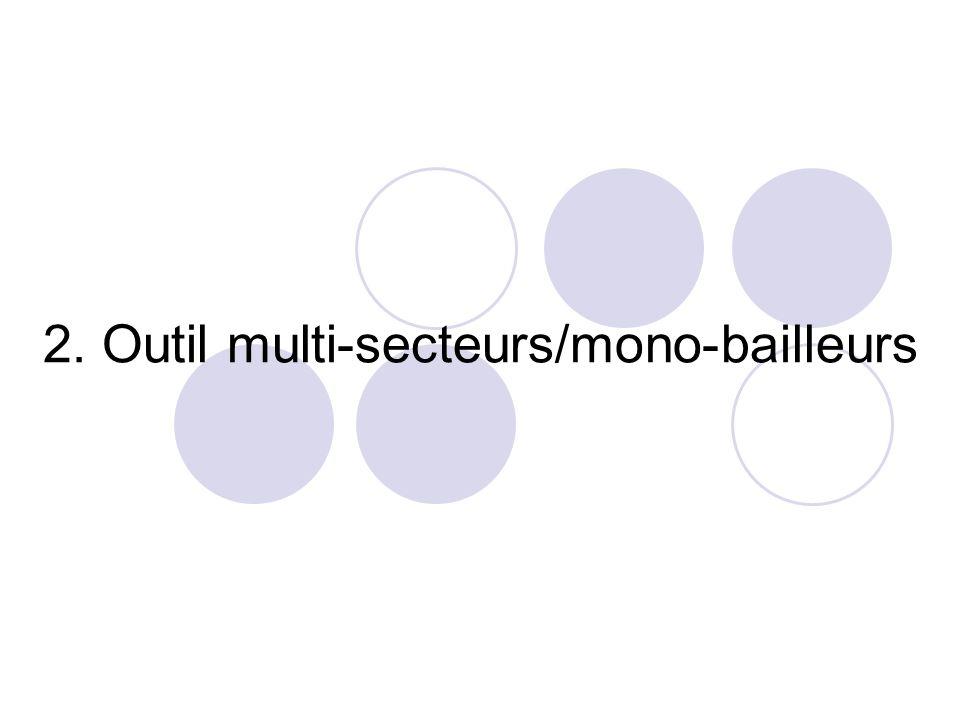 3. Outil multi-secteurs/multi-bailleurs