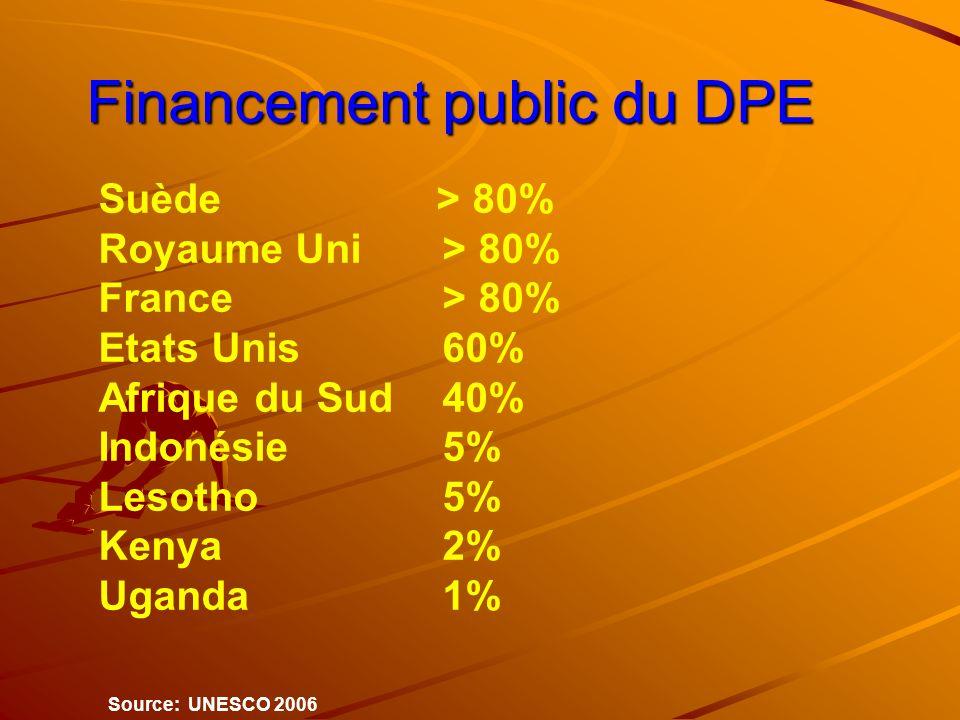 Financement public du DPE Financement public du DPE Suède > 80% Royaume Uni> 80% France> 80% Etats Unis60% Afrique du Sud 40% Indonésie5% Lesotho5% Ke