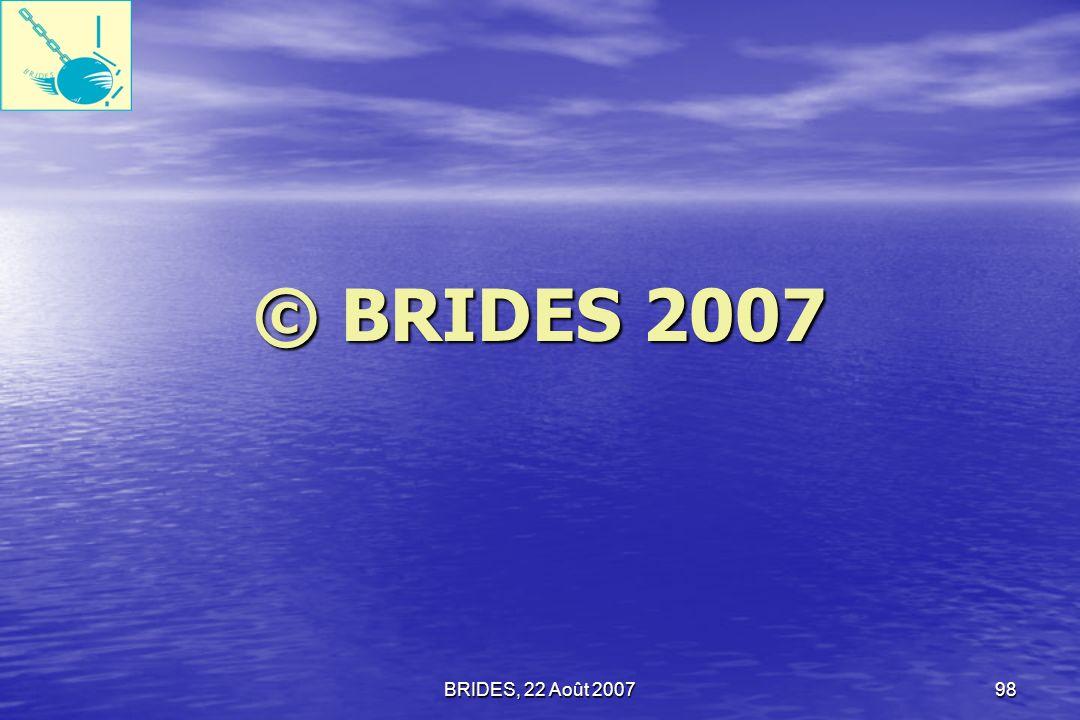 BRIDES, 22 Août 200797 Merci de votre attention