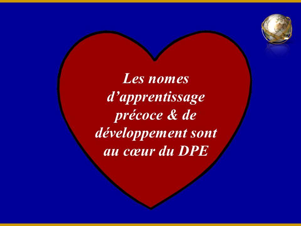 Les nomes dapprentissage précoce & de développement sont au cœur du DPE