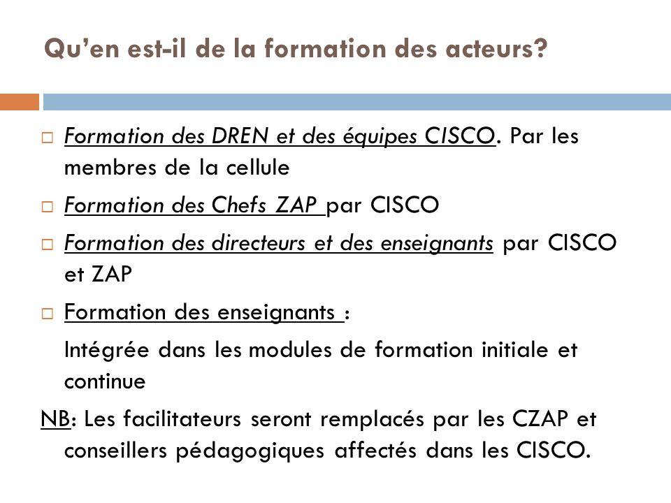 Formation des DREN et des équipes CISCO.