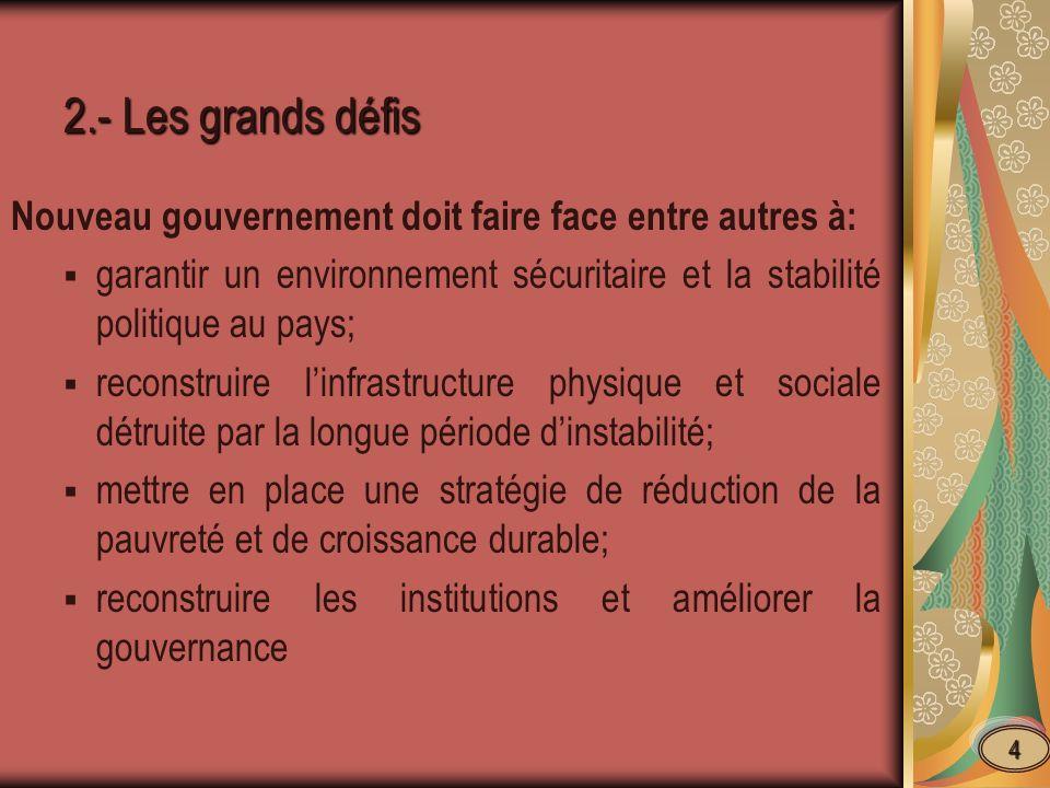 3.- Bonne Gouvernance et Effort de lutte anticorruption.