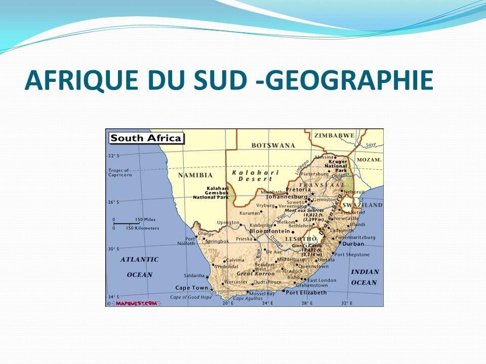 AFRIQUE DU SUD -GEOGRAPHIE
