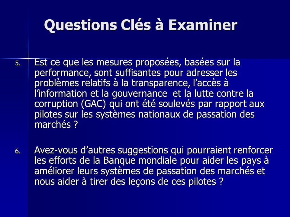 Questions Clés à Examiner 5.