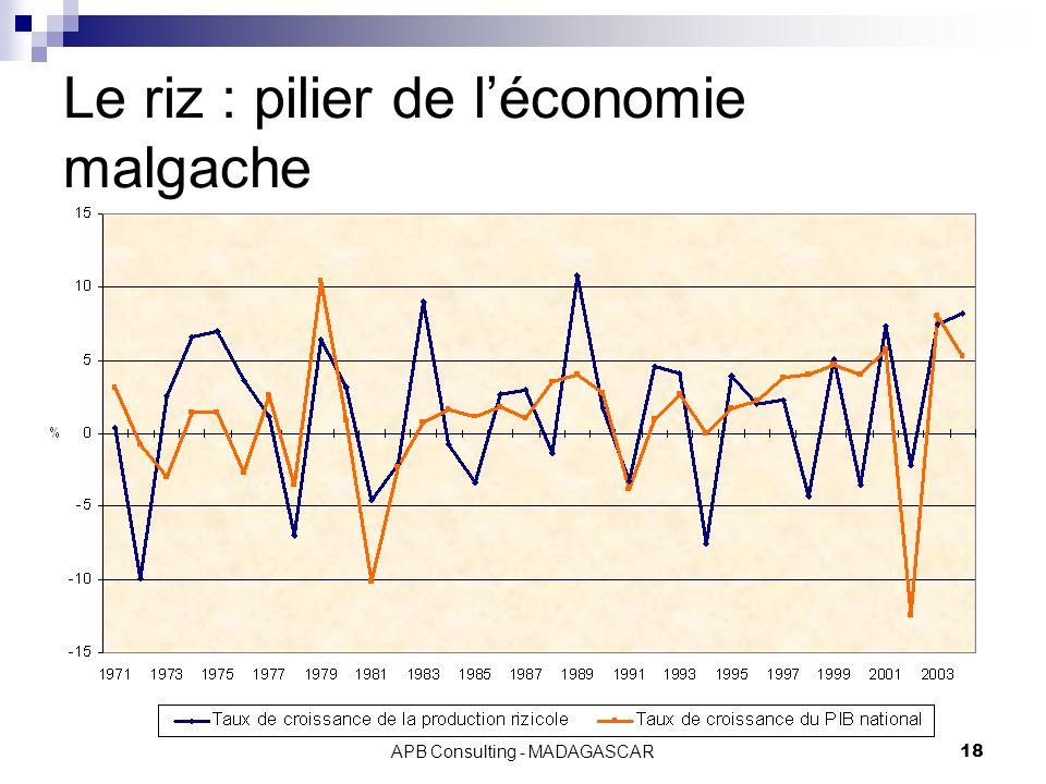 APB Consulting - MADAGASCAR18 Le riz : pilier de léconomie malgache