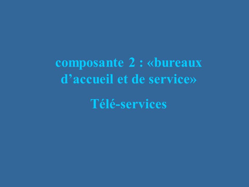 composante 2 : «bureaux daccueil et de service» Télé-services