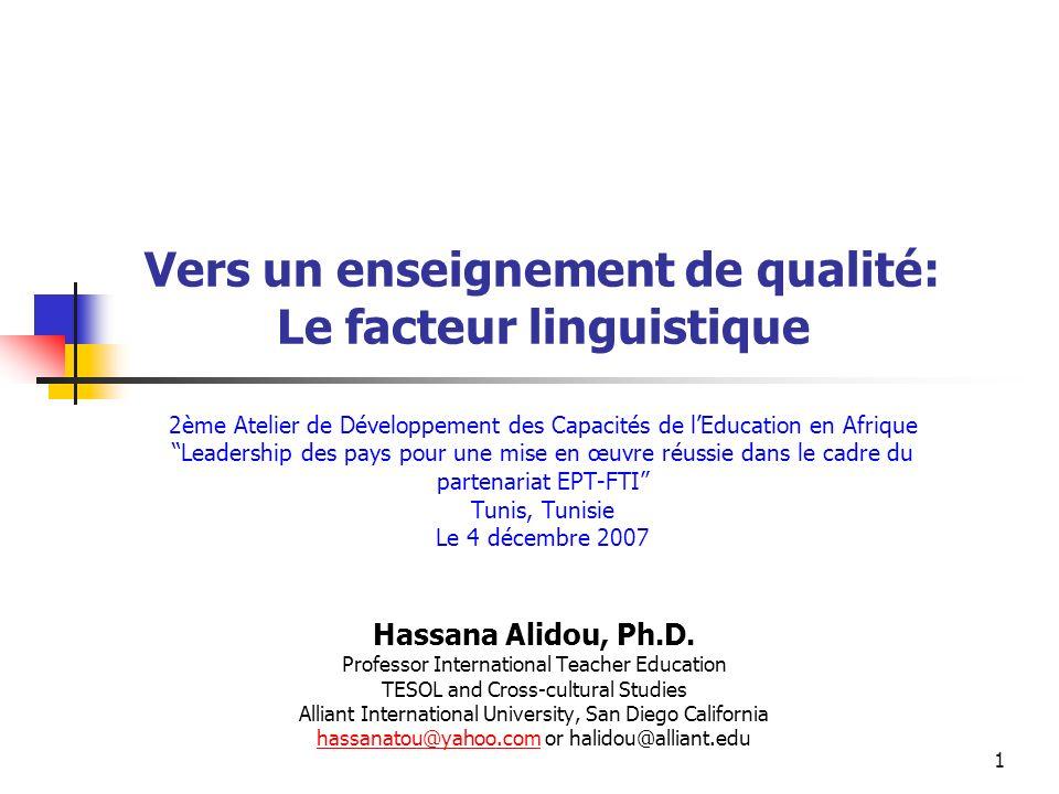 22 Langue dans tout le Curriculum Lapprentissage de la langue na pas lieu uniquement dans des matières spécifiques définies et réservées de manière explicite.