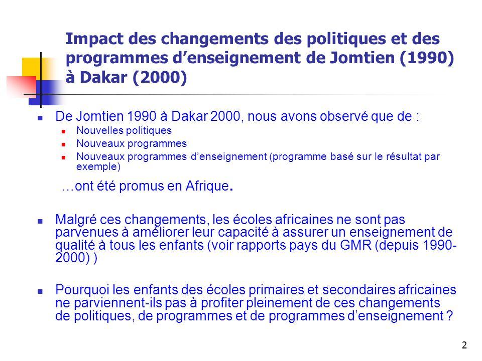 13 Comparaison des programmes de transition et de maintenance en Afrique : Burkina Faso École Satellite: Modèle bilingue de transition de L1= Langue denseignement Niveau 1-Niveau 3 Français= Langue denseignement.