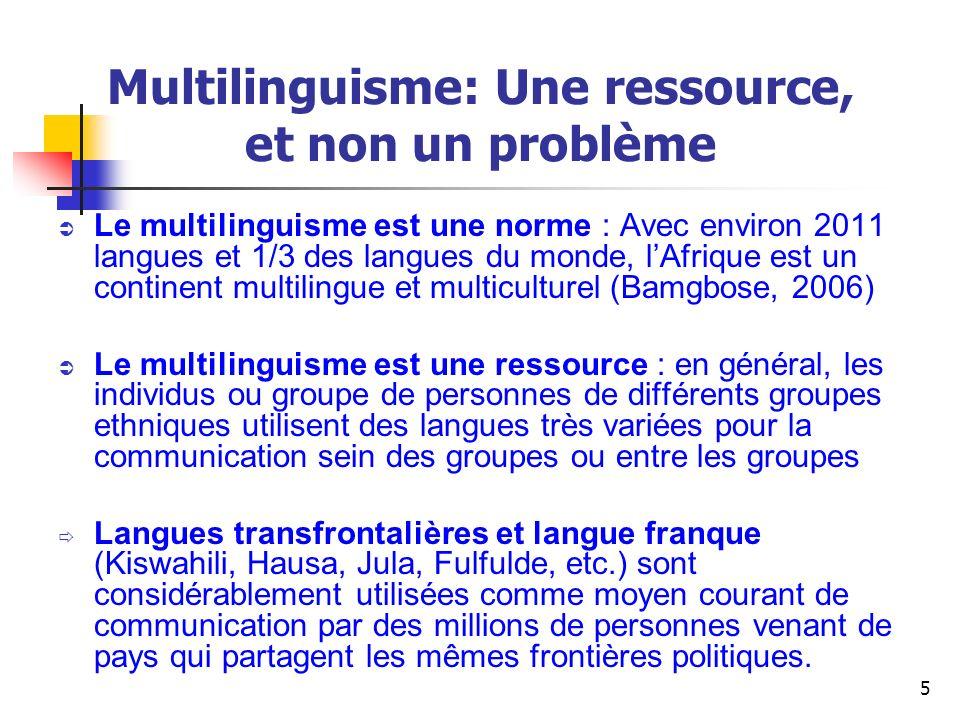 26 Usage des langues africaines pour promouvoir un enseignement de qualité : Quest-ce que cela implique.