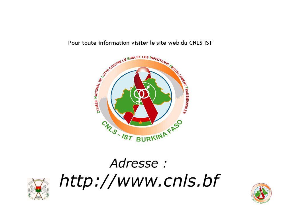 Pour toute information visiter le site web du CNLS-IST Adresse : http://www.cnls.bf