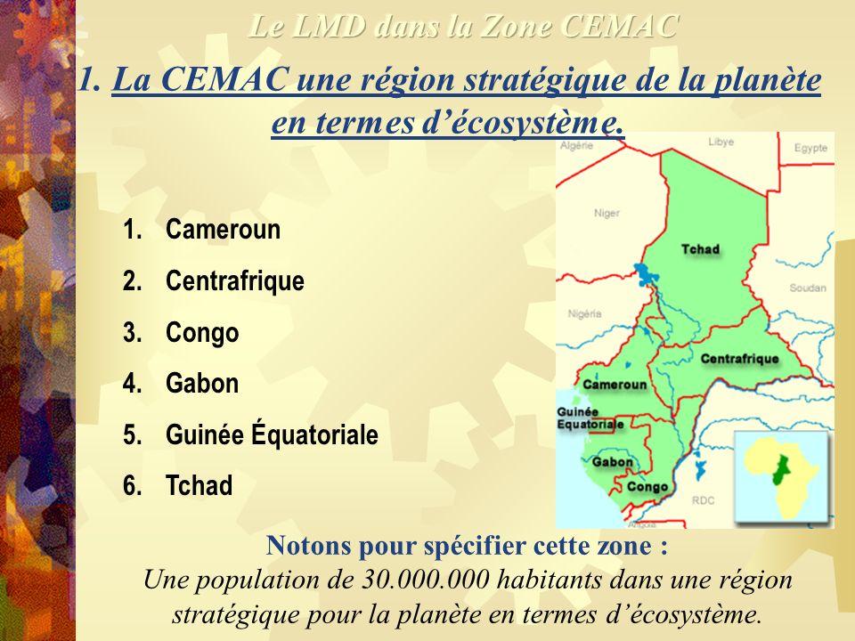 1.La CEMAC une région stratégique de la planète en termes décosystème.