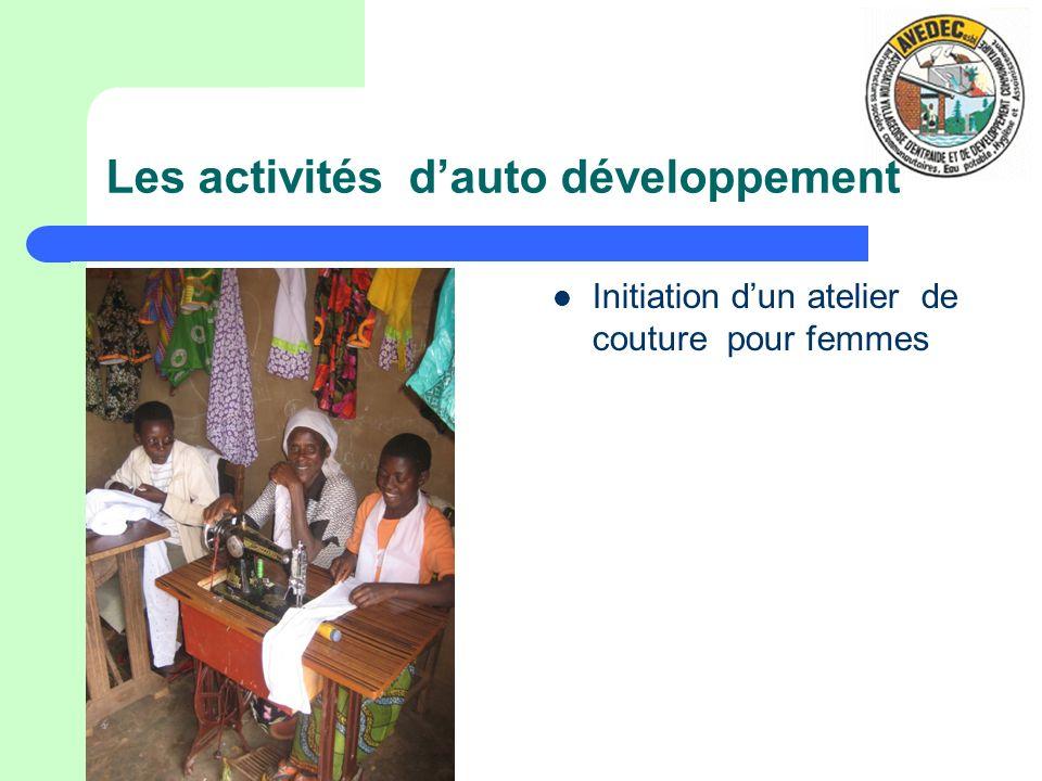 Les activités dauto développement Initiation dun atelier de couture pour femmes