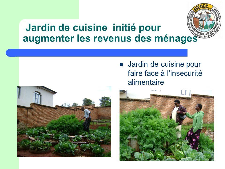 Jardin de cuisine initié pour augmenter les revenus des ménages Jardin de cuisine pour faire face à linsecurité alimentaire