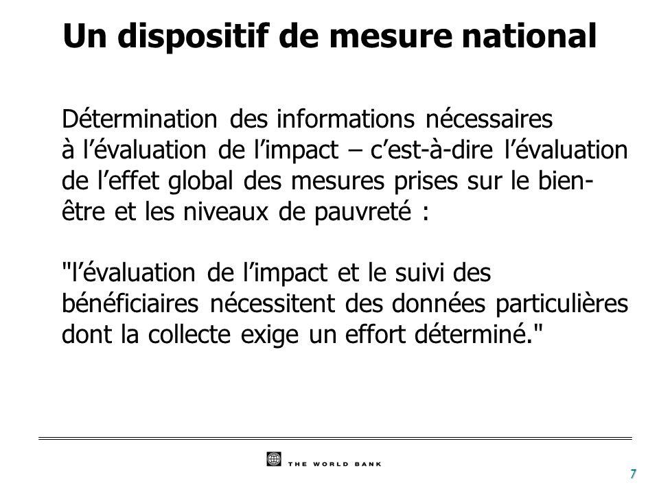 8 GSE = Groupe socio-économique ; EI = Enquête intégrée ; QGIBE = Questionnaire relatif aux grands indicateurs du bien-être ; EPP = Évaluation participative de la pauvreté.