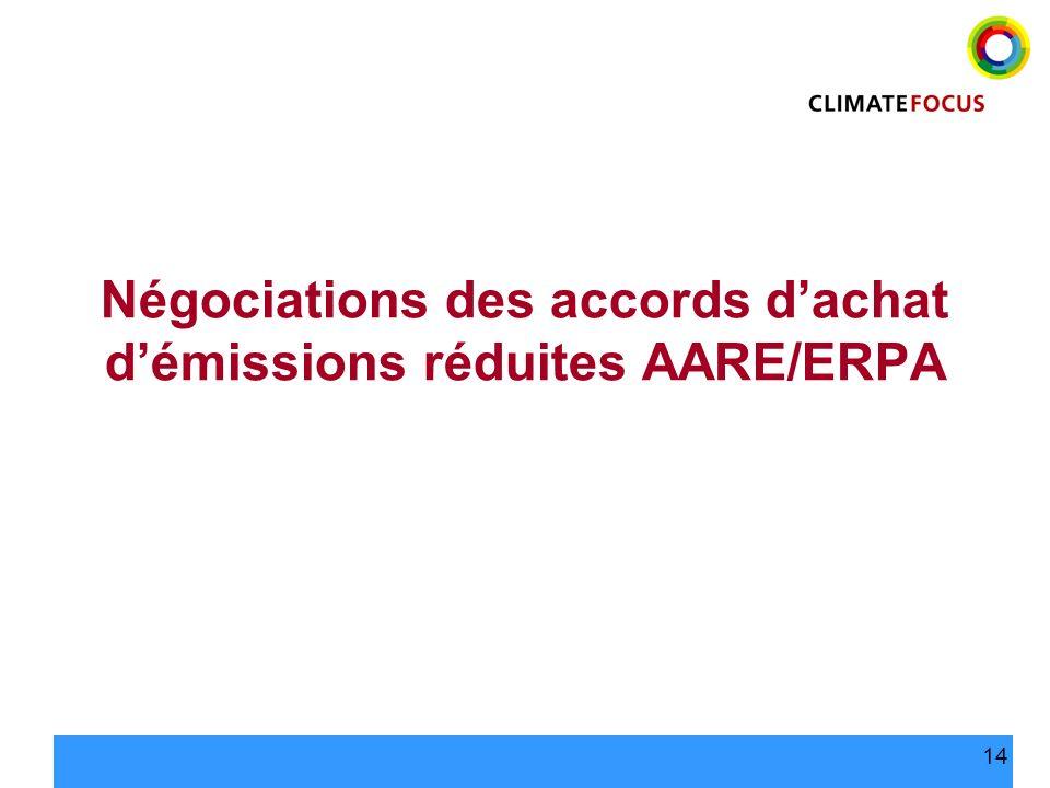 14 Négociations des accords dachat démissions réduites AARE/ERPA