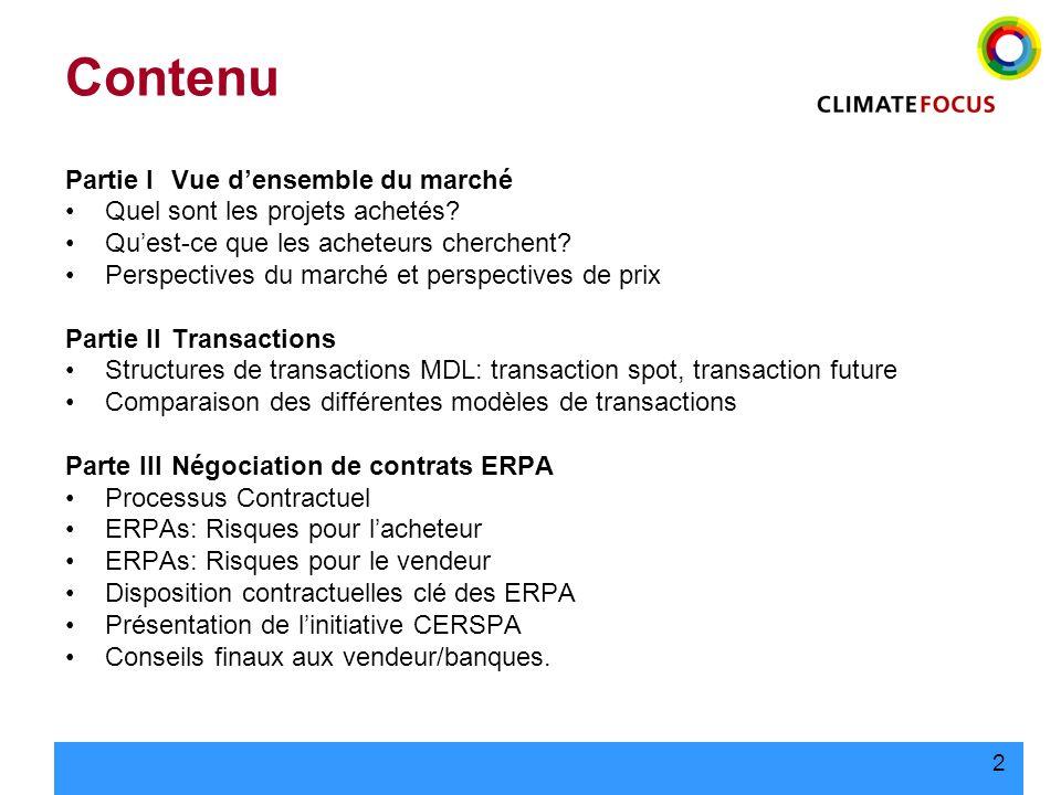 23 Conseils finaux aux vendeurs/financiers Protéger le projet –Limitation de responsabilités nécessaire.