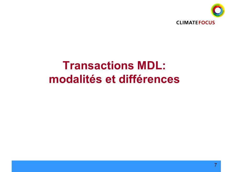 7 Transactions MDL: modalités et différences