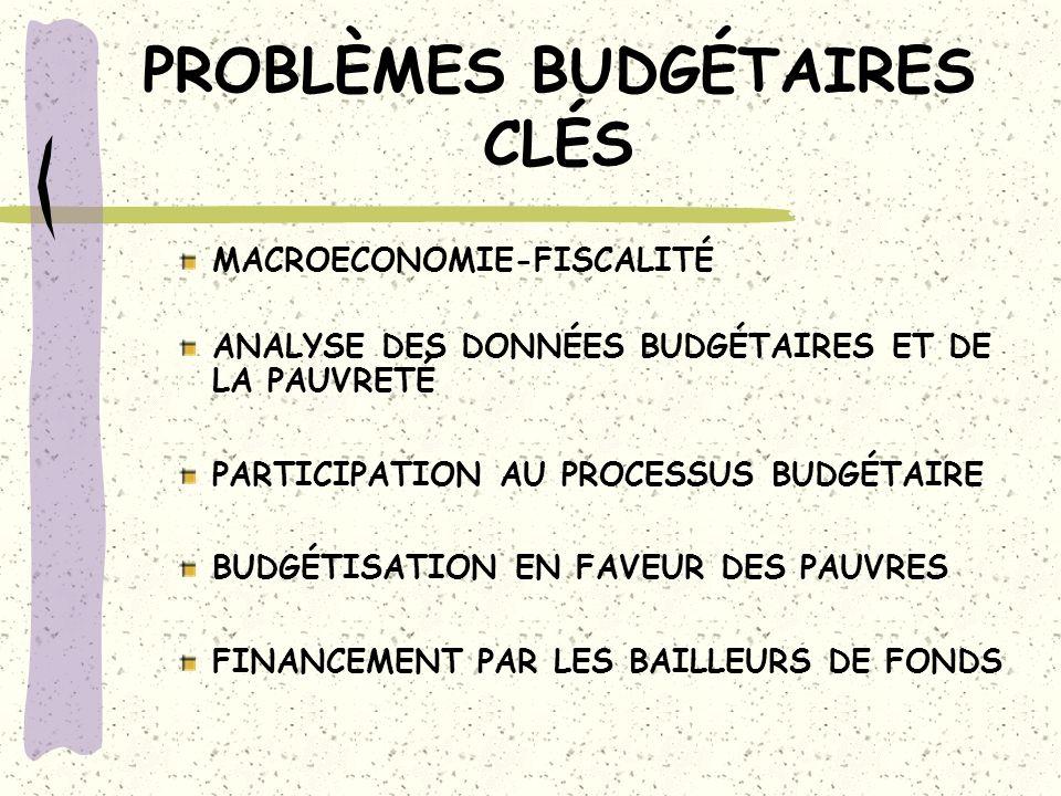 BUDGET PRO-PAUVRE: Défis Utiliser: Analyse des bénéficiaires Enquêtes de cheminement/suivi des dépense Budget-programme ou basé sur le rendement-résultats Enquêtes doffre des services