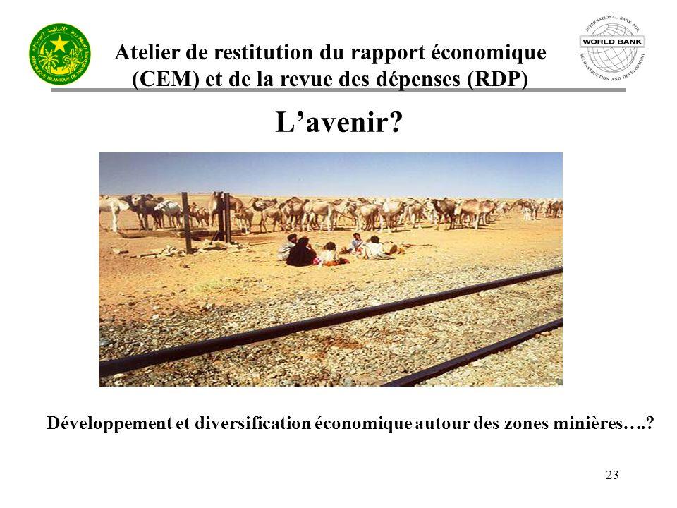 Atelier de restitution du rapport économique (CEM) et de la revue des dépenses (RDP) 23 Lavenir.