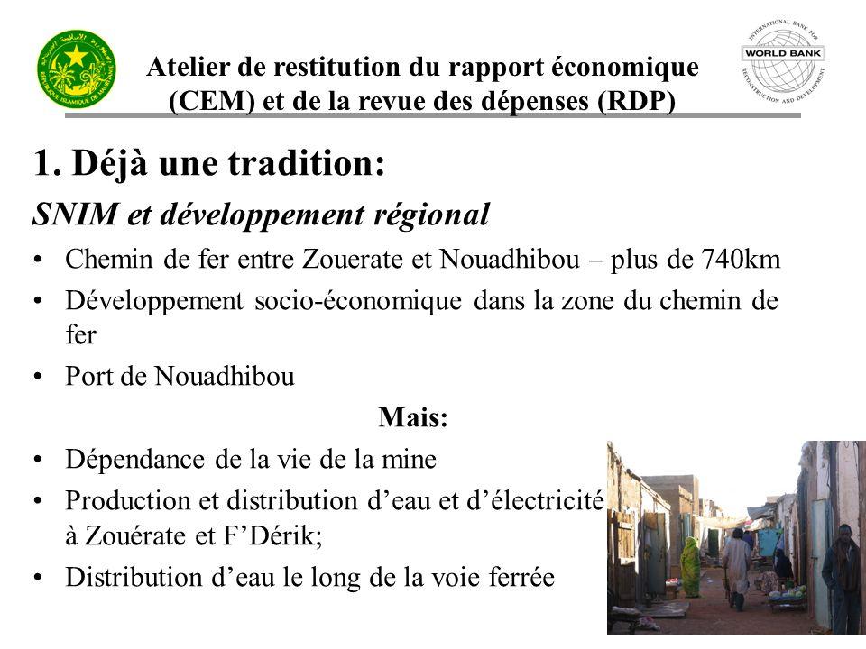 Atelier de restitution du rapport économique (CEM) et de la revue des dépenses (RDP) 6 1.